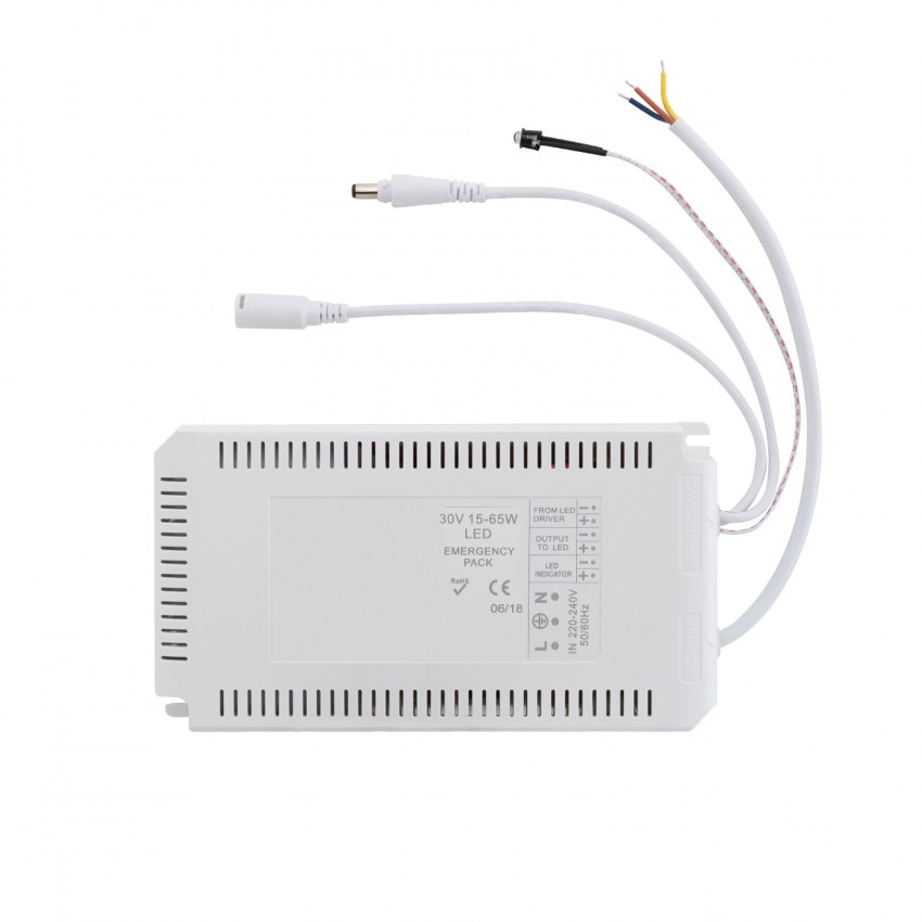 Driver with Emergency Battery for LED Panels 30V DC 15-65W